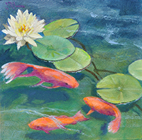 "Lily Pond Enchantment - 6""X6"""