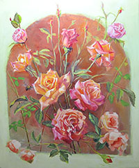 "A Celebration of Roses - 24"" X 20"""