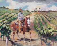 "A Ride in the Vineyard - 16"" X 20"""